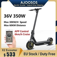 duty free 10 inch wheel hub motor escooter 350w bluetooth app control cruise 2 wheels adult freestyle kick scooter hoverboard