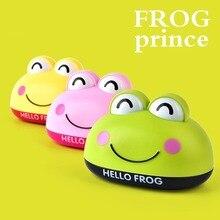 Creative Cartoon Frog Soap Box Bathroom Soap Holder With Case Lid Jewelry Storage Box Kitchen Sponge Drain Rack