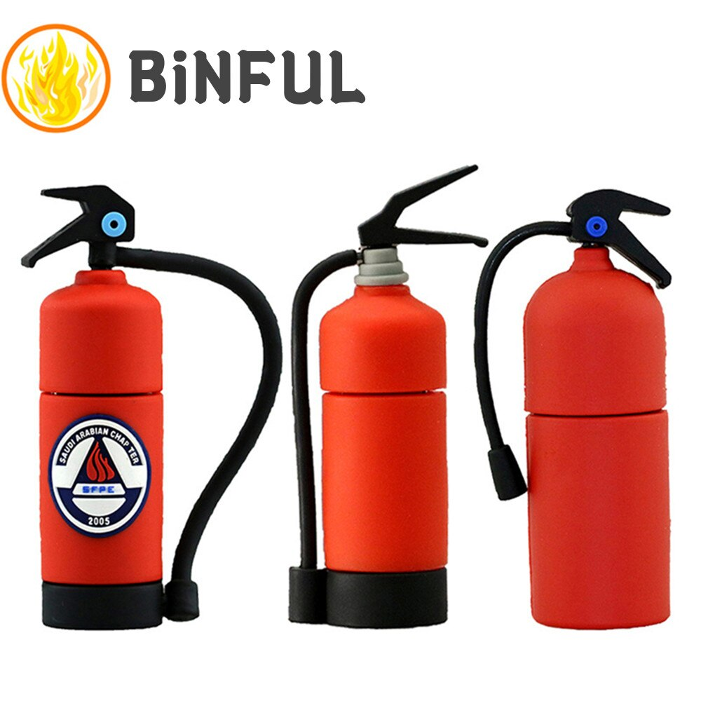 BiNFUL Pendrive Cartoon Fire Extinguisher Memory Stick 32G Usb Flash Drive 256GB Pen 4G 8G 16G 64G 128GB Card