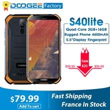 Neue DOOGEE S40 lite Robuste Android 9,0 Handy 5,5 zoll Display 4650mAh MT6580 Quad Core 2GB RAM 16GB ROM 8,0 MP IP68/IP69K