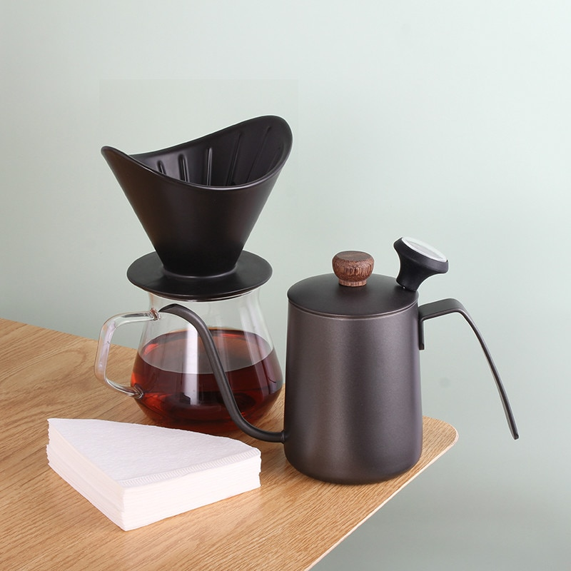 اليد يخمر إبريق قهوة صانع مجموعة القهوة كوب فلتر اكسسوارات بالتنقيط الزجاج تقاسم بسيطة غلايات مجموعات اسبريسو القهوة EI50CP