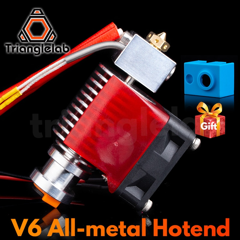 Trianglelab Highall-metal V6 Hotend 12V/24V Remote Bowen Print J-head Hotend And Cooling Fan Bracket For E3D HOTEND For PT100