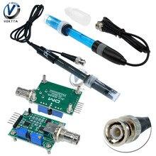 Ph líquido 0-14 detecção de valor detectar regulador sensor módulo monitoramento medidor de controle tester com bnc ph eletrodo sonda