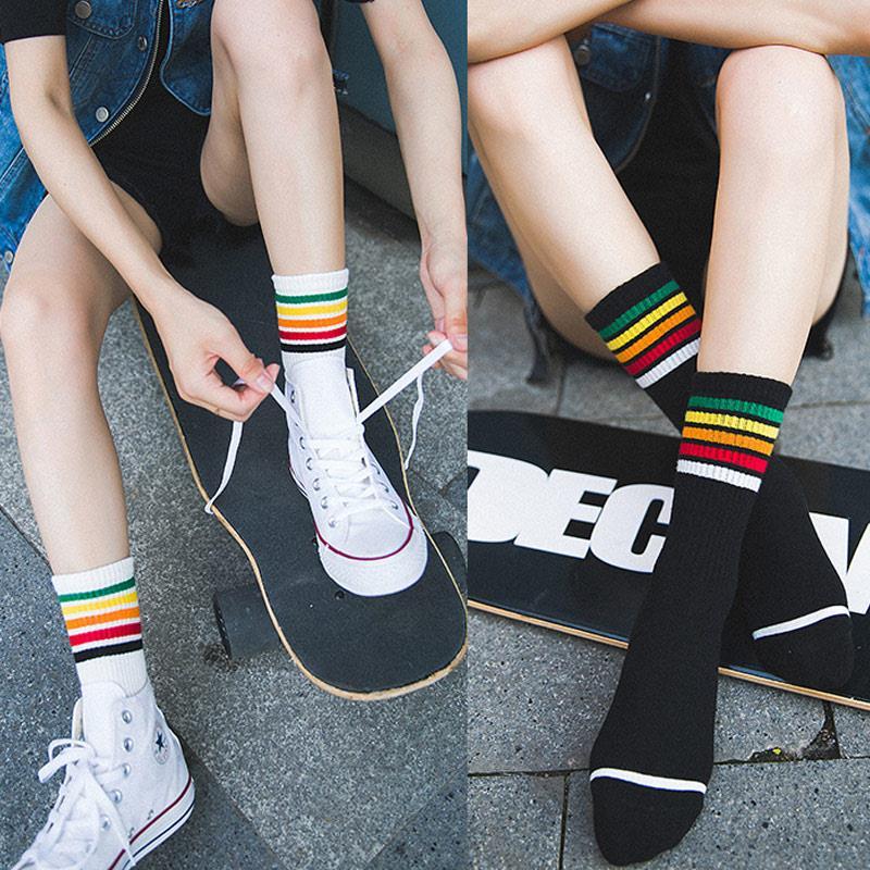 Calcetines de algodón letra calcetín Skate verano suave 3 colores antiséptico Popular portátil moda tobillo calcetines duraderos