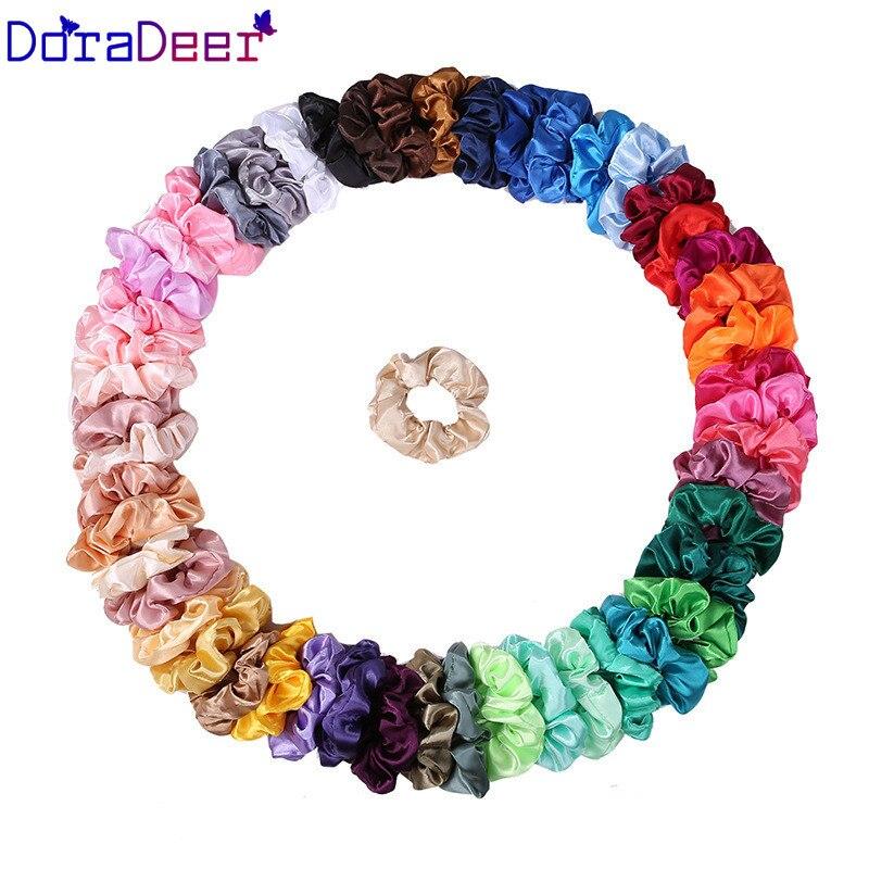 DoraDeer bandas para el cabello ligeras para damas Scrunchie sólido niñas Kpop Bandanas Ponytail Holder banda para el cabello diademas para el cabello accesorios para mujeres