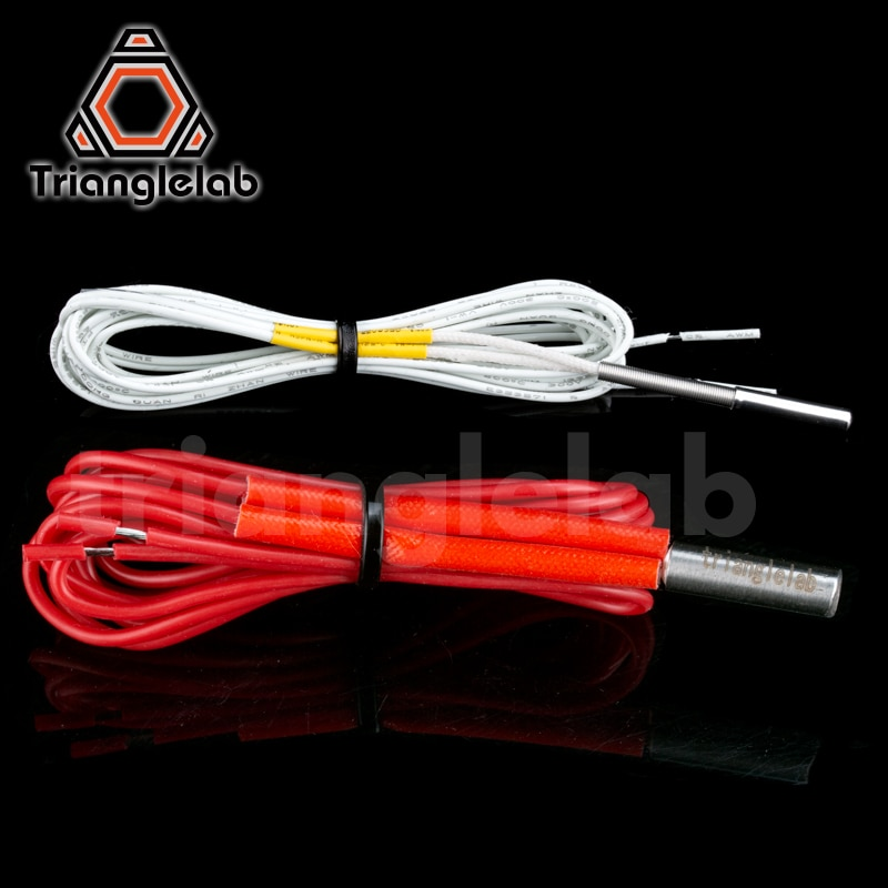 Trianglelab 104GT-2 термистор картридж и нагреватель картридж для E3D hotend v6 нагревательного блока для вулкан нагреватель Блок