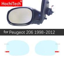 Para Peugeot 206 + 206 206cc 206sw CC SW 1998-2012 la cubierta completa Anti niebla película espejo retrovisor impermeable accesorios para películas Anti niebla