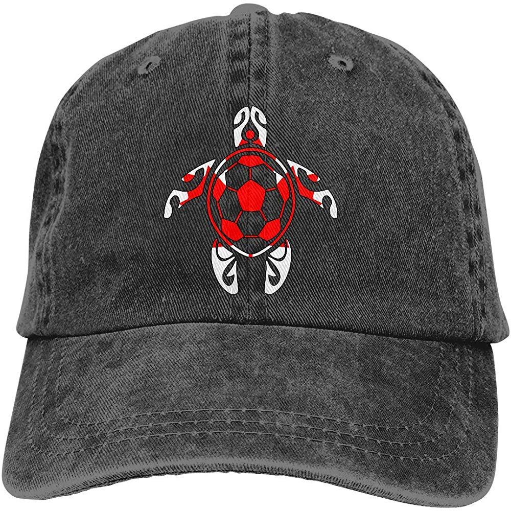 Drapeau du Canada football tortue de mer unisexe Denim casquette casquette de Baseball réglable