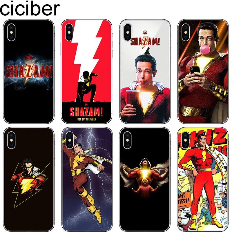 ¡Cicibers caja del teléfono para iphone 11 Pro Max 7 8 6 S Plus 5S SE suave cubierta del TPU para iphone X XR XS MAX DC superhéroe! Shazam! 2019