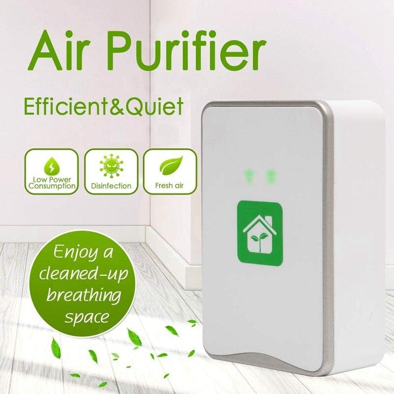 Purificador de aire enchufable, generador de iones negativos, ionizador sin filtro, purificador, alérgenos limpios, contaminantes, molde, tapón estadounidense