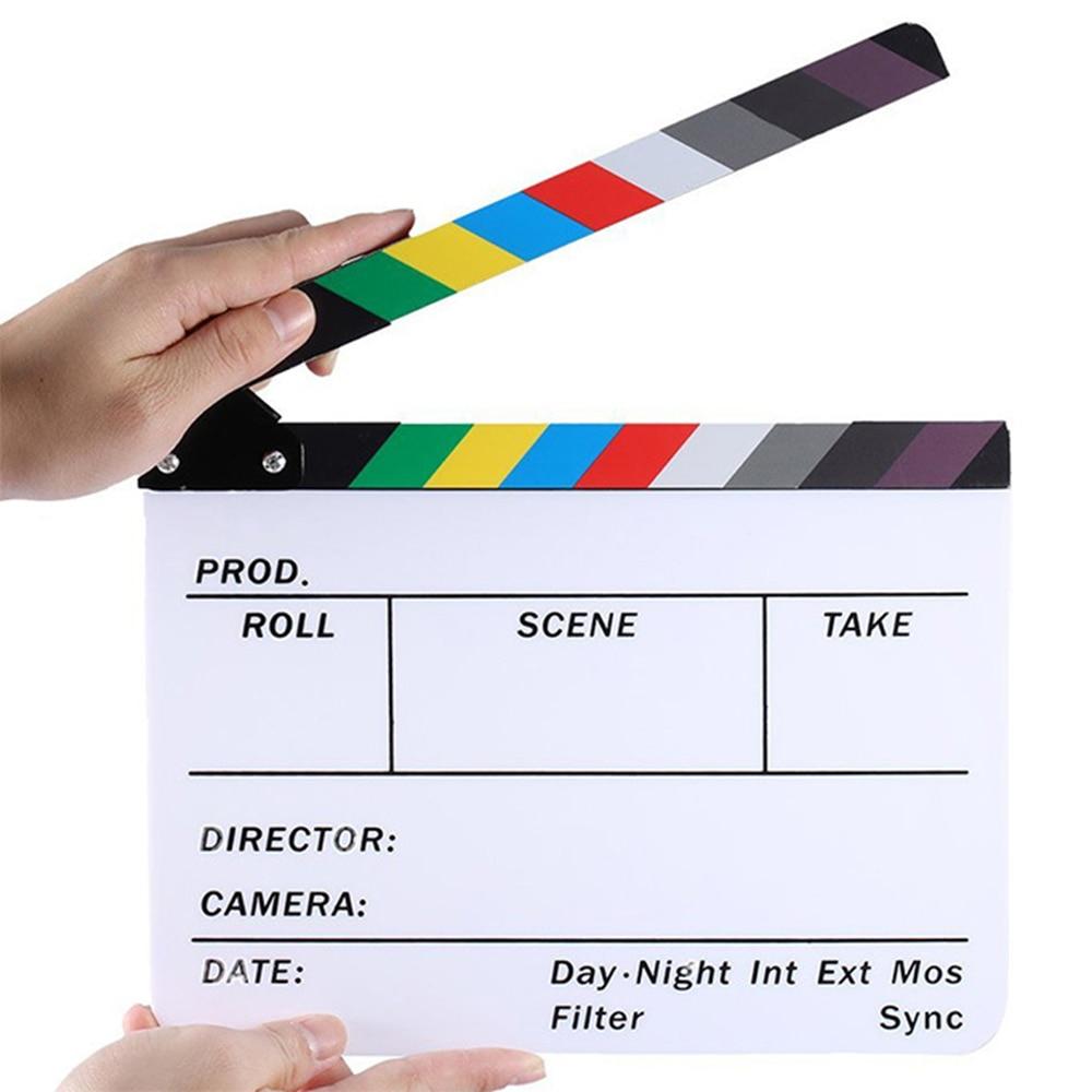 Хлопушка Clapperboard, хлопушка для ТВ, фильмов, цветная Хлопушка, Хлопушка, хлопушка для фильмов, Хлопушка с нежной текстурой, Видео Сцена