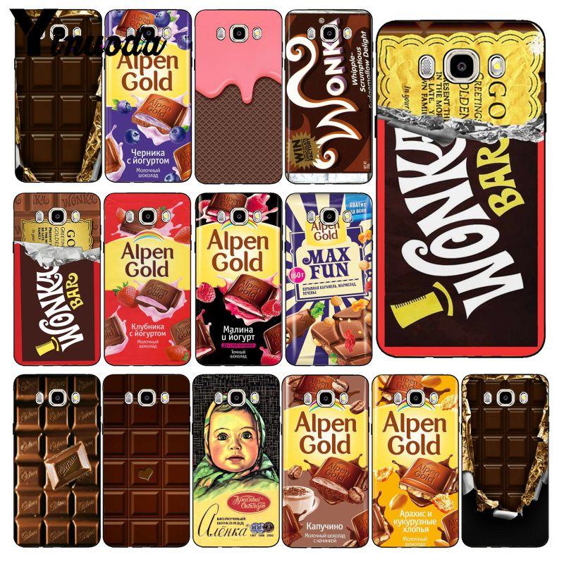 Yinuoda Wonka Bar boleto dorado Alpen oro chocolate teléfono caso para Samsung Galaxy J7 J6 J8 J4 J4Plus J7 DUO j7NEO J2 J7 primer
