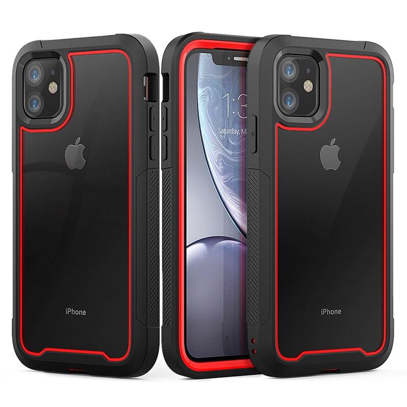 Capa de celular de tpu transparente, capa de celular novo estilo armadura à prova de choque para iphone 11, iphone xr, xs, max, 11 pro, max xs 8 7 plus capa clara