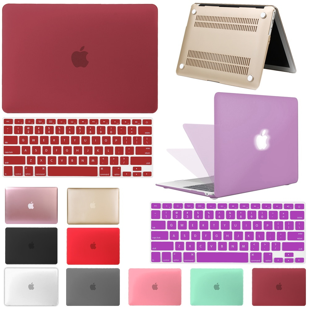Laptop Case for Macbook Air 13 A2179 A2337 Touch Bar/ID,M1 Chip Air Pro Retina 11 12 13 15 Inch A2338 Hard Case + Keyboard Cover