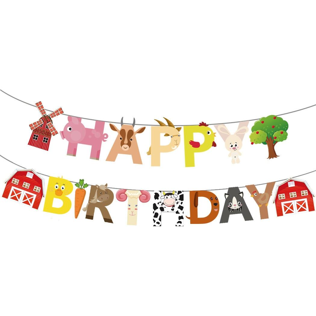 Ферма украшение для торта на день рождения на тему