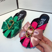 Women Sandals 2021 Summer Shoes for Women Slippers Casual Bow Shoes Women Fashion Mullers Rome Flat