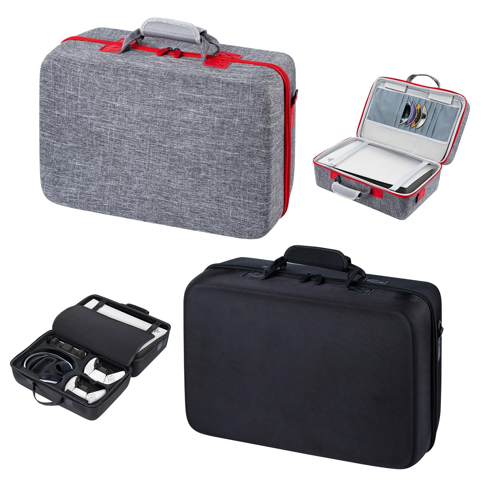 حقيبة التخزين السفر تنطبق على الملحقات PS5 وحدة التحكم واقية حقيبة مقبض الفاخرة تنطبق على حقيبة حمل السفر سوني