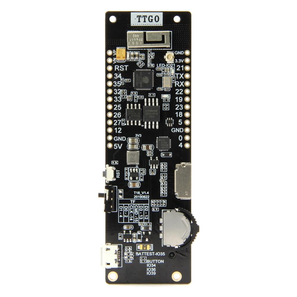 TTGO ESP32 WiFi Bluetooth 18650 soporte de batería módulo de asiento 2A fusible de 4 MB Flash SPI 4 MB Psram