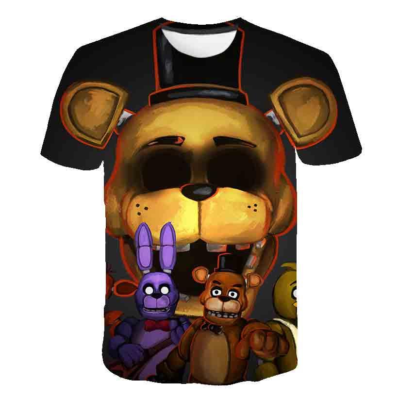 3 do 14 lat dzieci T-shirt FNAF 3D T shirt chłopiec FNAF t-shirty pięć nocy w Freddys Streetwear Tshirt topy Anime ubranka dla dzieci