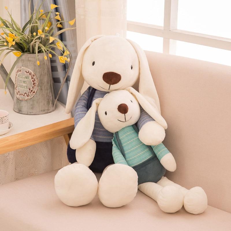 Плюшевые игрушки для детей Kawaii, 40 см, мягкие игрушки с кроликом, домашний декор для детей