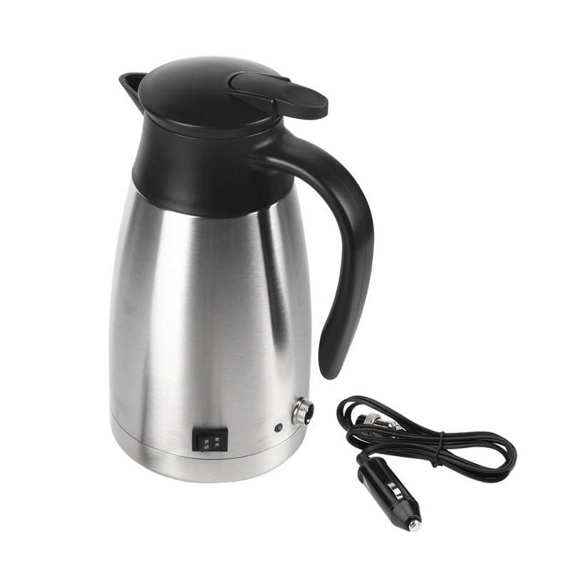 dmwd 12v 24v vehicle hot water boiling electric kettle travel truck thermal insulation heating cup car teapot boiler bottle 1 2l 1000ML Car Electric Kettle 12V/24V Stainless Steel Thermal Water Kettle Portable Coffee Milk Heated Boiler Teapot