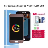 original lcds super amoled for samsung galaxy j2 pro 2018 j250 j250f j250h display touch screen digitizer assembly replacement