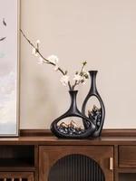 chinese zen vase decoration home creative furnishing living room tv cabinet decoration ceramic craft vase for home decoration