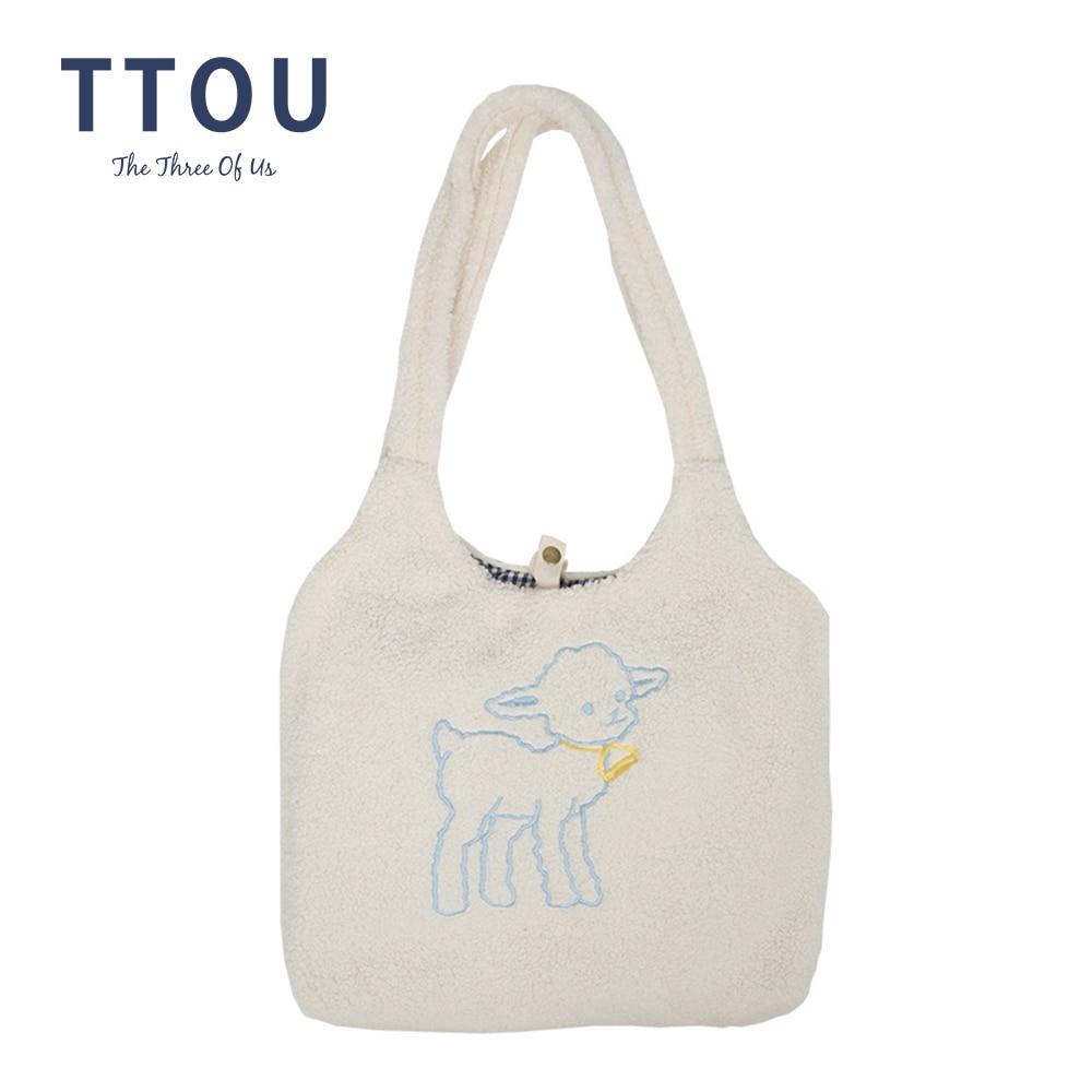 2020 Autumn Women Small Plush Tote Simple Warm Cloth Bags Embroidery Handbag High Quality Eco Makeup Bag Purses For Girls