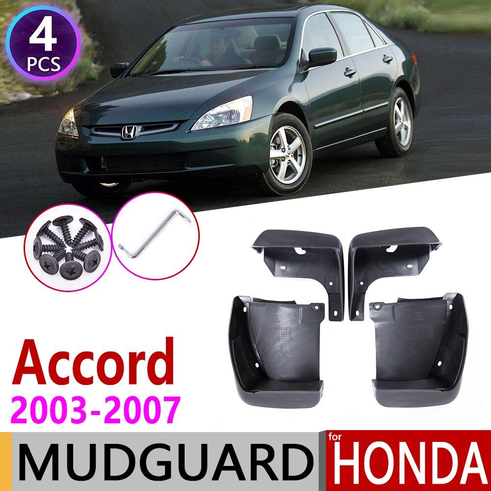4 PCS Car Mudflap para Honda Accord Sedan 2003 ~ 2007 Fender Mud Proteção Contra Respingos Flap Paralama Acessórios 2004 2005 2006 7th Gen 7