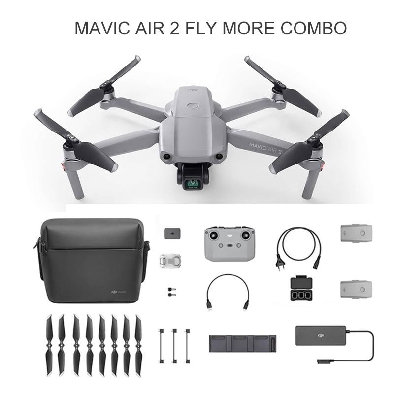 طائرة بدون طيار DJI Mavic Air 2 10 كجم 1080P FPV مزودة بكاميرا 4K 60fps 3 محاور Gimbal 8K Hyperlapse مدة رحلة 34 دقيقة طائرة رباعية بدون طيار FocusTrack RC