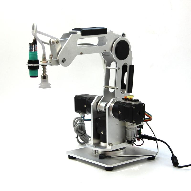 Brazos mecánicos, Robot Industrial, Motor de paso reductor planetario de 3 ejes, Robot de escritorio, Control por aplicación de teléfono móvil