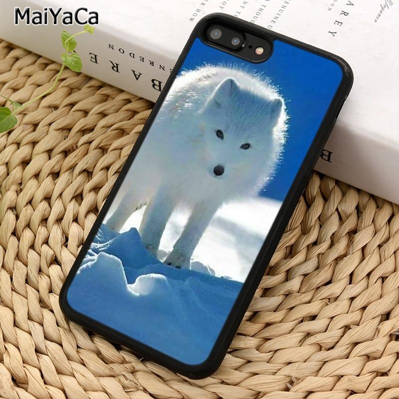 MaiYaCa poco borroso zorro ártico funda para teléfono para iPhone X XR XS 11 Pro MAX 5 se 6 6 S 7 7 8 Plus, Samsung Galaxy S5 S6 S7edge S8 S9 S10