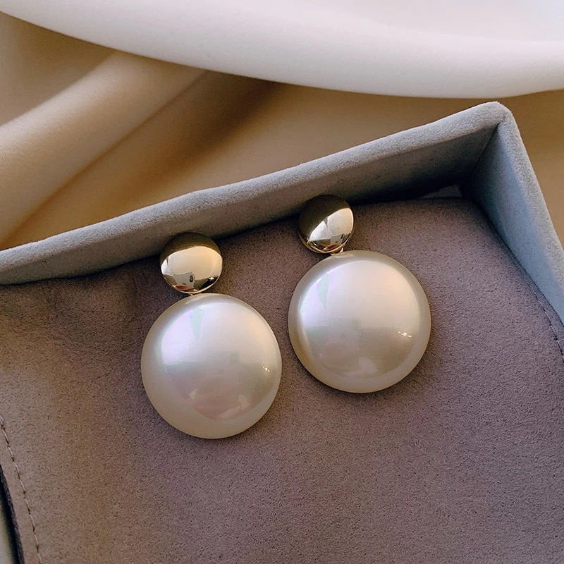 Temperament Fashion Pearl Earrings New Jewelry Korean Styles Statement Brincos Gifts Drop Earrings Aliexpress