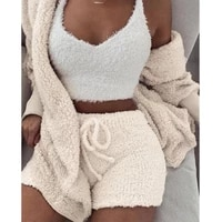 new knitted casual women two piece set short jumpsuit winter female solid tracksuit womens autumn soft warm playsuit
