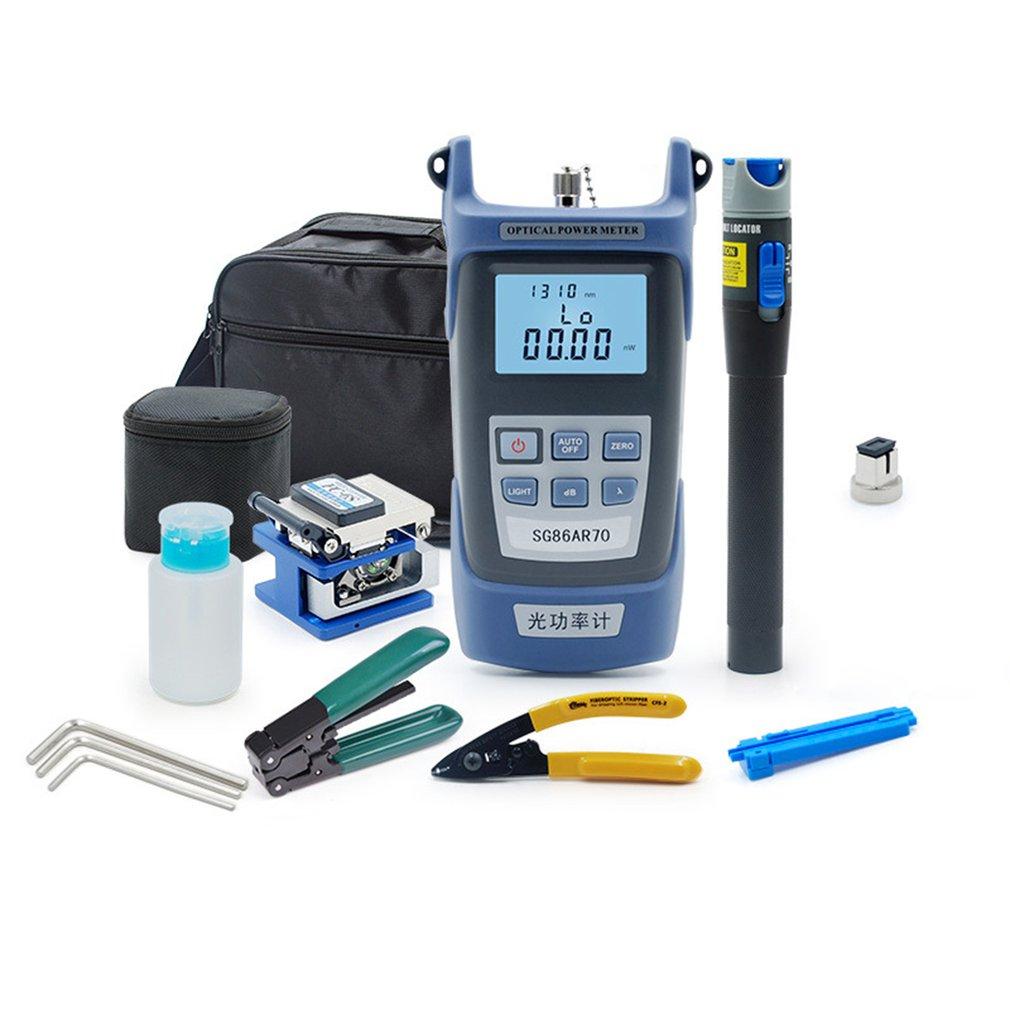FTTH Fiber Optic Tool Kit 11pcs/set FC-6S Fiber Cleaver -70~+3dBm Optical Power Meter 5km Laser pointe enlarge