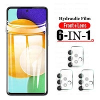 Protective Hydrogel Film for Samsung Galaxy A42 A52 A32 A72 5g Soft Screen Protectors Tempered Glass camera lens a42 5g a32 5g