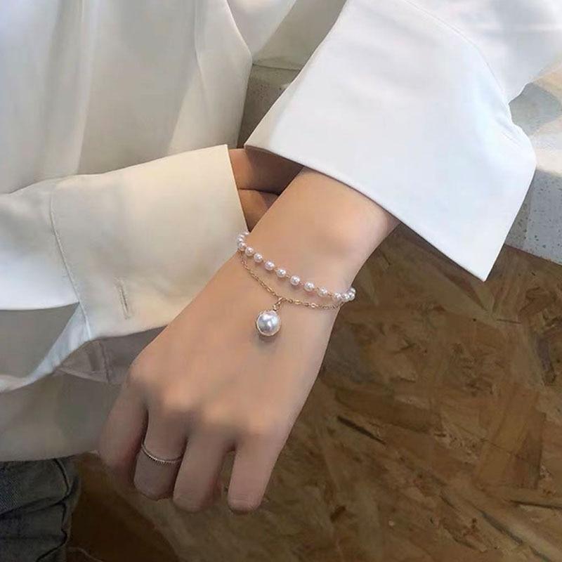 Designer Chrams Bracelets for Women Retro Double Pearl Bracelet Female Fashion Bracelet Jewelry Wholesale Bulk Pulseras