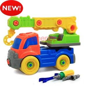 26 см кран новые детские завинчивающиеся блоки Пожарная машина мультяшная игрушка машина Инженерная модель строительные наборы набор пласт...