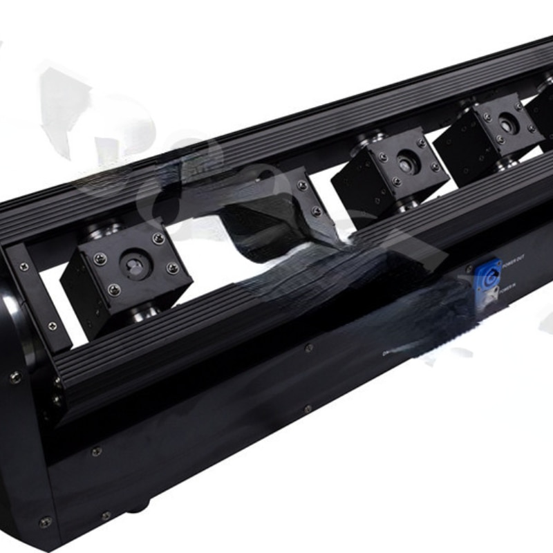Laser Light Slow Shake Bar Stage Full Color Light Show Color Changing 8 Eyes Scanning Light Voice Control Beam Light