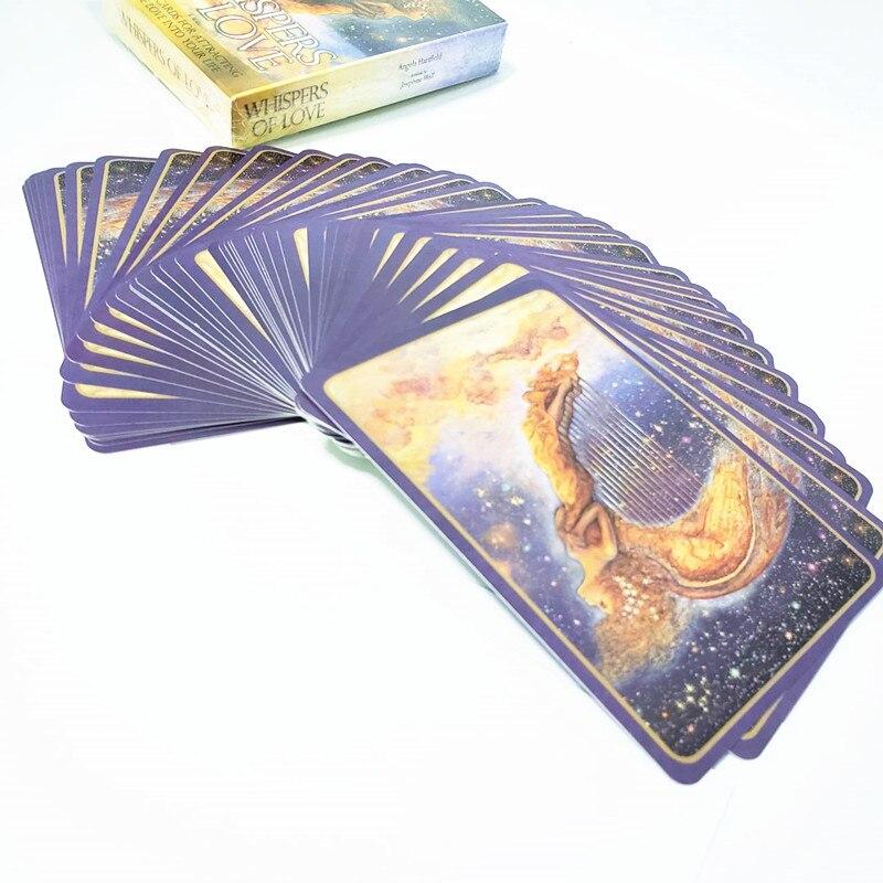 Susurros de amor tarjetas de adivinación destino baraja de tarot juego de 50 tarjetas Idioma Inglés de la tarjeta de tarot 40JP21