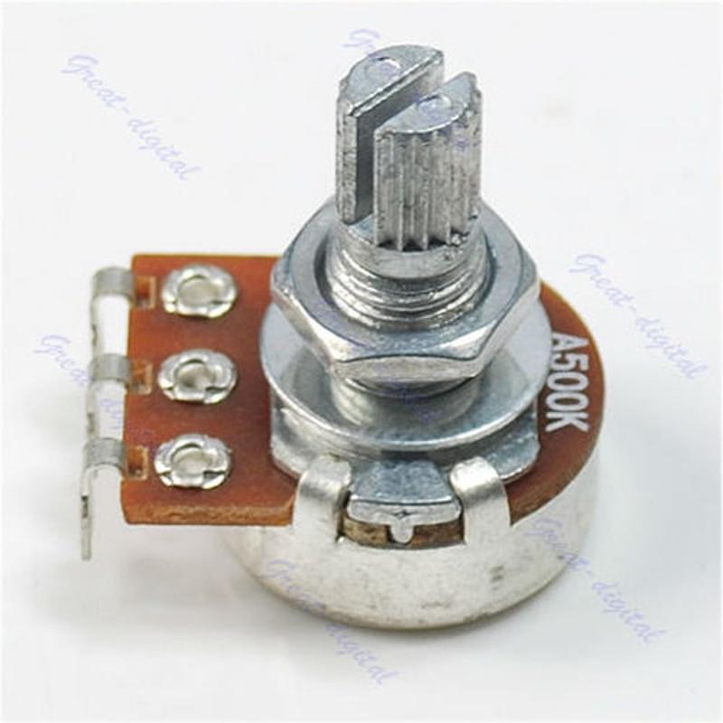 OOTDTY A500K potenciómetro forrado olla guitarra eléctrica bajo efecto amplificador volumen tono 15mm eje piezas