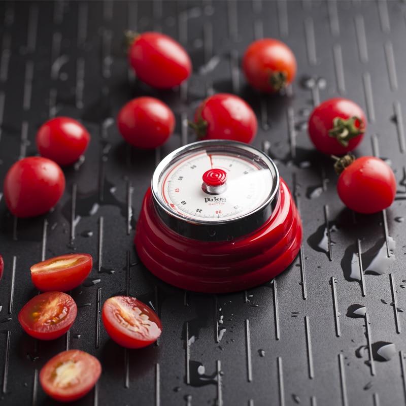 Cronómetro mecánico de cocina de Alemania Plazotta, temporizador con recordatorio para estudiantes, reloj pequeño con Plan de berenjena