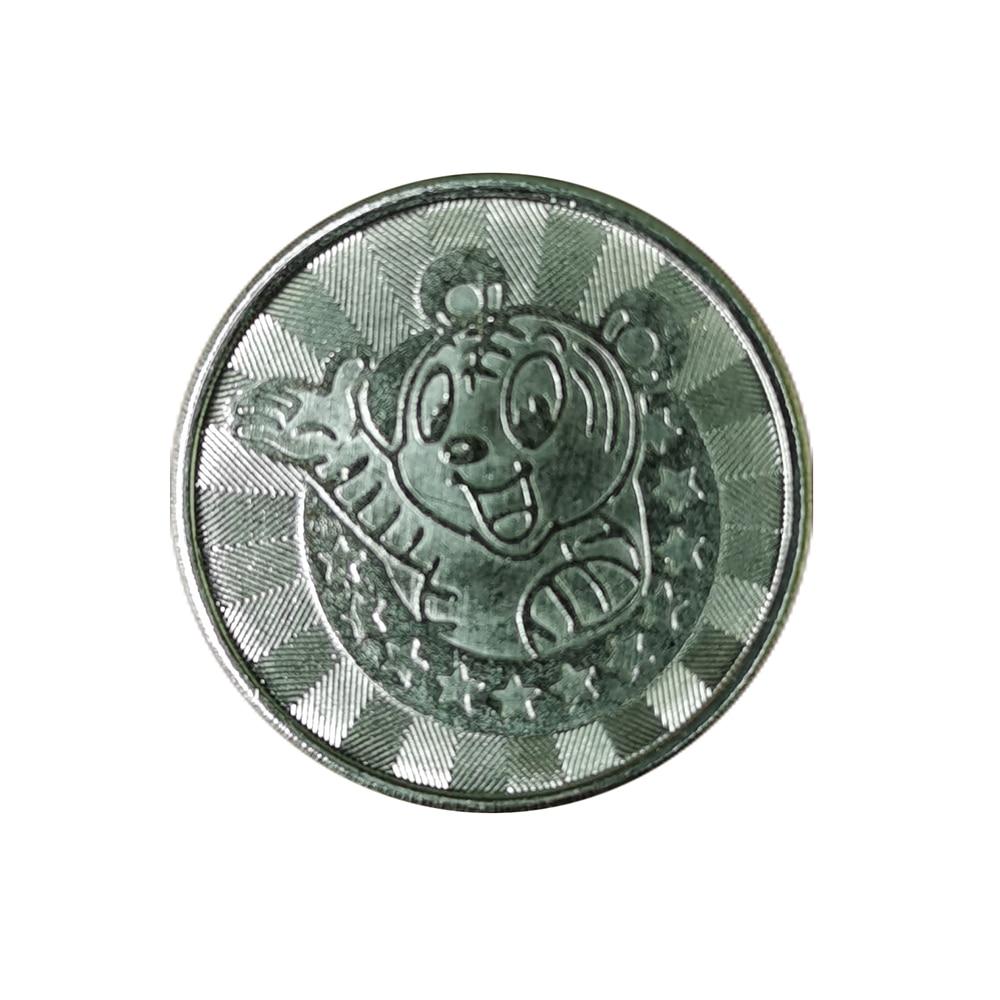 50 шт., аркадные игровые автоматы, жетон-монета, нержавеющая сталь, 25*1,85 мм