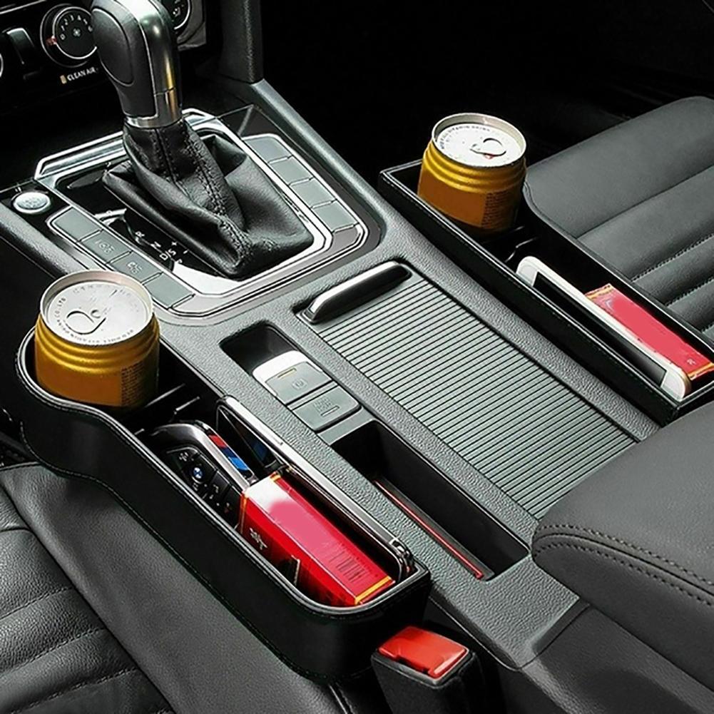 Boîte de rangement en plastique 1 paire   Siège de voiture universel, crétin support de tasse pour téléphone, organisateur accessoires de conception réservés
