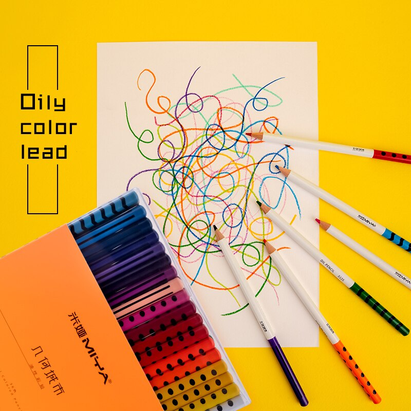 Miya Himi oil Crayons 24/36/48 Colors Oil Pastel DIY Washable, Pastel, Watercolor Rotatable and erasable for Kids,Adults,Artists enlarge
