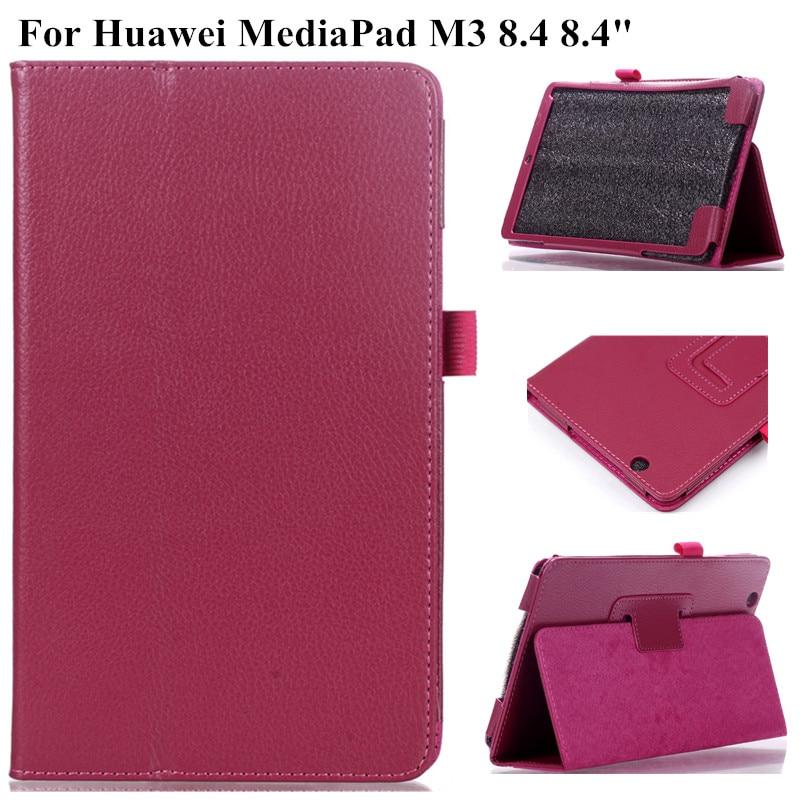 Litschi Muster Fall für Huawei MediaPad M3 8,4 BTV-W09 BTV-DL09 Schlank Folding Stand Tablet Abdeckung für Huawei Media Pad M3 fall