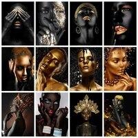 5d BRICOLAGE Diamant Peinture Pleine Foret Carre Afrique Femme Art Diamant Broderie Mosaique Dor Portrait Croix Decor A La Maison