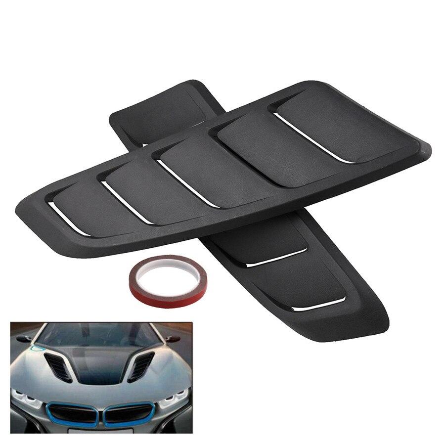 2pcs Carro Universal Bonnet Fender Fluxo de Ar Entrada De Ventilação Capô Capô Dianteiro Desabafar Decorativo Para Ford Mustang Plástico ABS