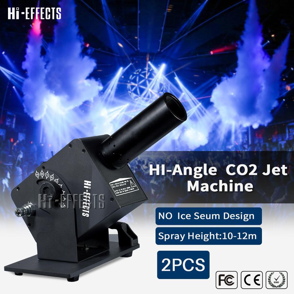 2pcs/lot  Single Pipe Mini Co2 Jet Machine Co2 Power Jet DMX512  Control  CO2 Cannon Professional Fogger Stage Equipment