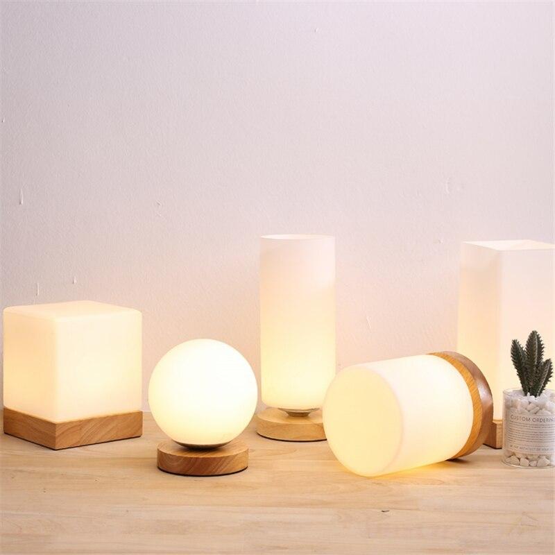 Lámpara LED moderna de mesa de cristal, decoración de cabecera de habitación, accesorios de cocina, decoración artística
